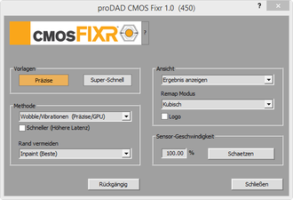 Screenshot proDAD CMOS Fixr