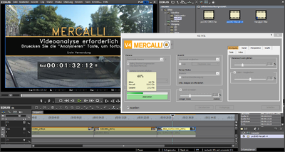 Screenshot EDIUS Mercalli V4 Videoanalyse