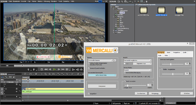 Screenshot Edius Plugin Mercalli V4 comparison Las Vegas