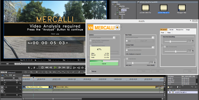 Screenshot Mercalli V4 Video Analysis