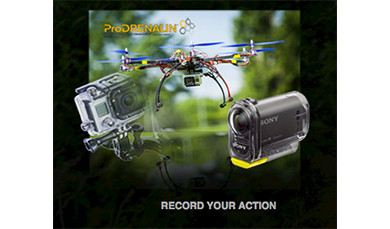 Optimum aerial photography and drone flight videos thanks to ProDRENALIN image stabilisation