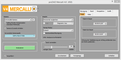 Screenshot proDAD Mercalli V4