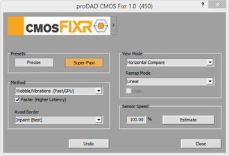 Screenshot CMOS Fixr higher latency