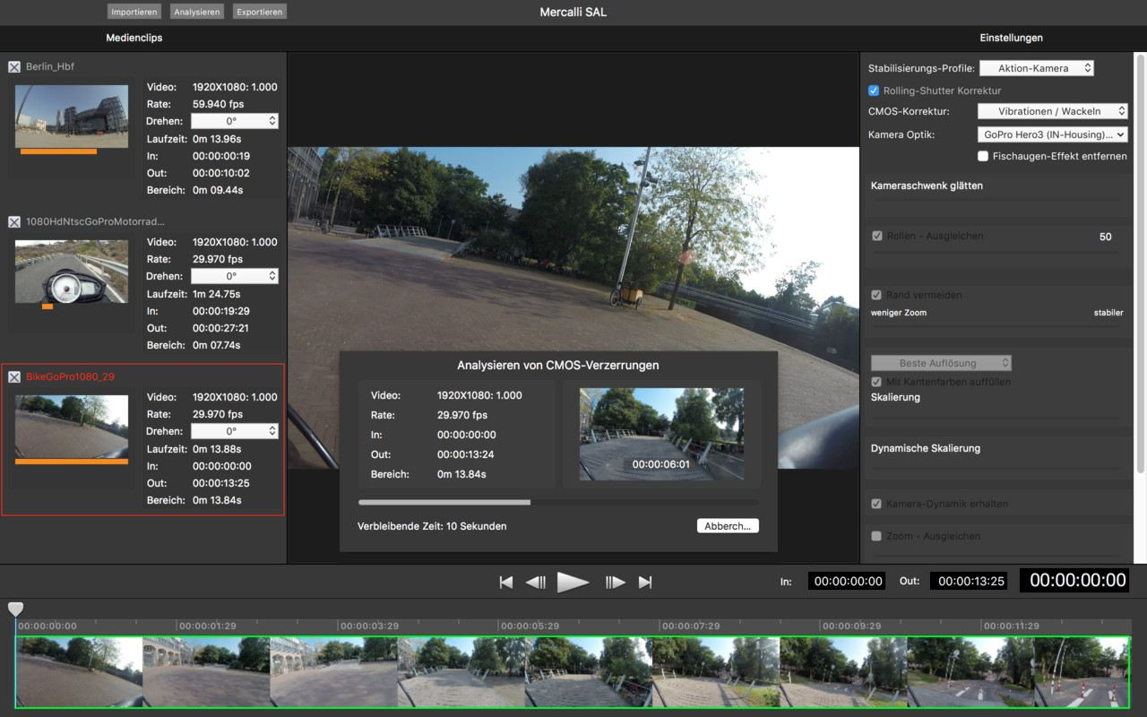 Stand-alone video stabilization Application for macOS